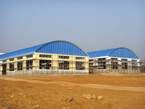 永州工业园标准厂房-拱形屋顶工程