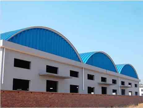 无梁拱 长沙双佳水表厂拱形波纹钢屋盖工程