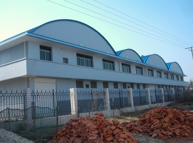 湖南口味王槟榔仓库-拱形波纹钢屋盖工程