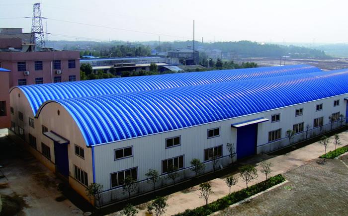 湘乡农之源农业科技有限公司车间、仓库-拱形波纹屋顶