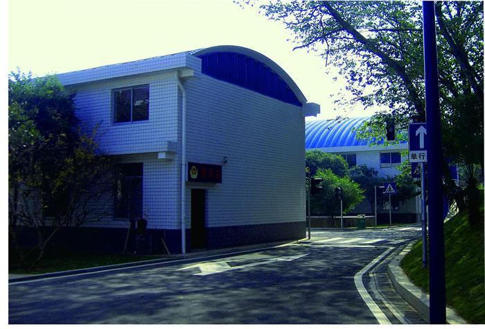 湖南公安厅警务训练中心拱形波纹钢屋盖工程