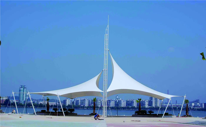膜结构拱形波纹钢屋盖工程